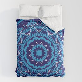 Mandala 010 Blue Mix Comforters