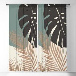 Minimal Monstera Palm Finesse #1 #tropical #decor #art #society6 Blackout Curtain