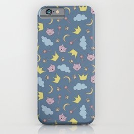 cute pattern with sleepy cats iPhone Case