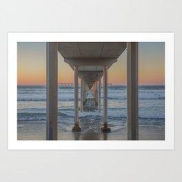 Under the Ocean Beach Pier, San Diego, CA Art Print