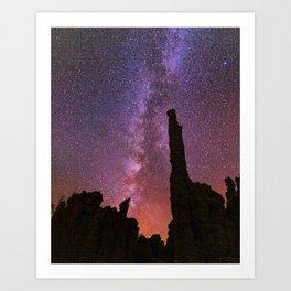 Milky Way Sunset over Mono Lake Tufa Towers Art Print