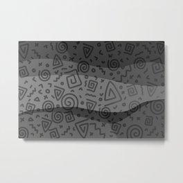 ETHNO PATTERN Modern | grey Metal Print