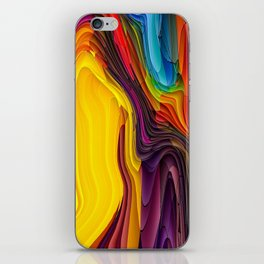 Melting Pot of Colors Abstract iPhone Skin