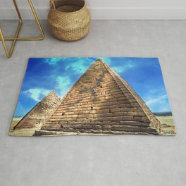Kush Empire pyramids - Jebel Barkal - Sudan Rug