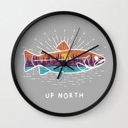 Up North Fish Wall Clock