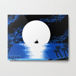 Gazing the Moon at the Celestial Seashore Metal Print