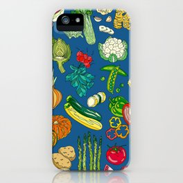 Vegetable Paradise by Night iPhone Case
