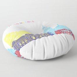 Santiago de chile skyline pop Floor Pillow