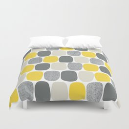 Wonky Ovals in Yellow Duvet Cover