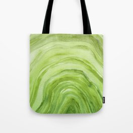 Agate II - Lime Green Watercolor Tote Bag