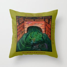 Canals Make Me Feel Eerie Throw Pillow