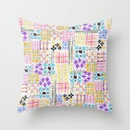 Havana Abstract Boho Tile Throw Pillow