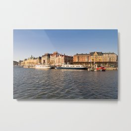 Between Sunset And Water in Stockholm Metal Print
