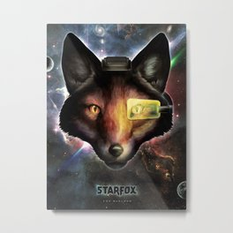 Star Fox McCloud Epic Space Poster Metal Print