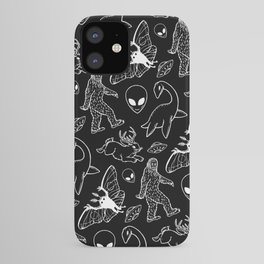 Cryptid Pattern: White Lines iPhone Case