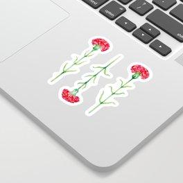 Carnations flowers watercolor art Sticker
