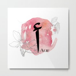 Alif Arabic Monogram Metal Print