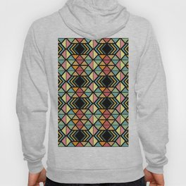 Zola muted colors on black Hoody