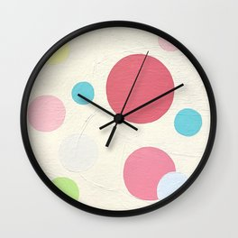 Circles by Christie Olstad Wall Clock