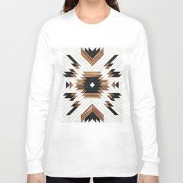 Urban Tribal Pattern No.5 - Aztec - Concrete and Wood Langarmshirt