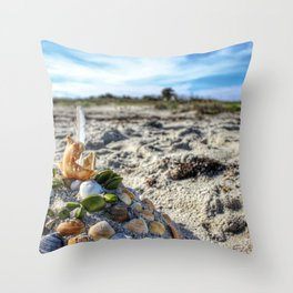 Sunny Castle Throw Pillow