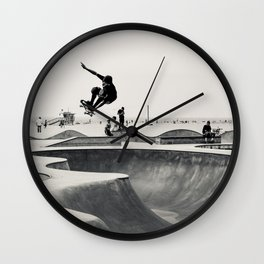 Skateboarding Print Venice Beach Skate Park LA Wall Clock