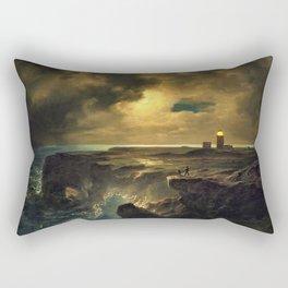 'After the Storm' landscape coastal painting by Christian Ernst Bernhard Morgenstern Rectangular Pillow