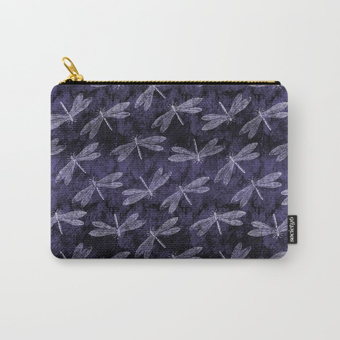 Purple Dragonfly Twighlight Dance Carry-All Pouch