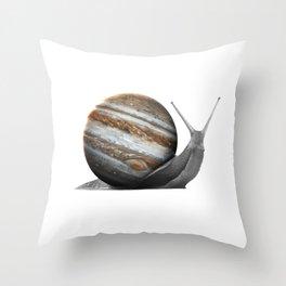 galactic snail saturn Throw Pillow