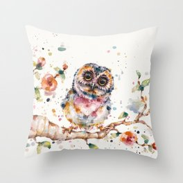Yep, Cute Is My Middle Name (Owl) Throw Pillow