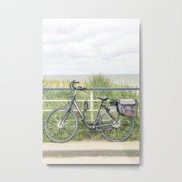 Escape, beach and bike Metal Print