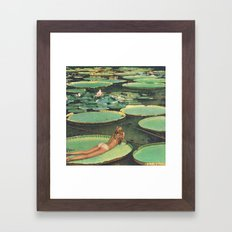 LILY POND LANE Framed Art Print