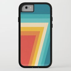 Colorful Retro Stripes  - 70s, 80s Abstract Design iPhone 7 Adventure Case