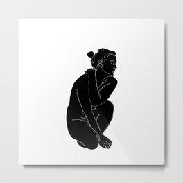 Nude figure illustration - Enid Metal Print