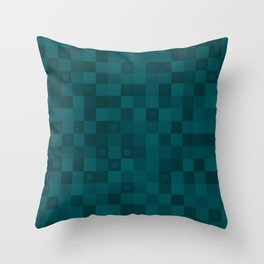 Dark tile of lead intersecting rectangles and strict bricks. Throw Pillow