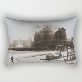 September 12, 1900 Fire at Narragansett Towers, Casino, & Rockingham Hotel Rectangular Pillow