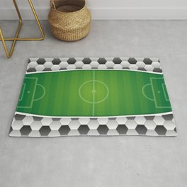 Soccer Football Field Rug
