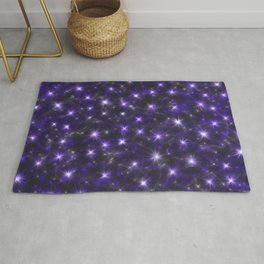 Ultra Violet Stars in a Purple Galaxy Rug