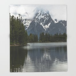 Grand Teton National Park III - Wanderlust Adventure Throw Blanket