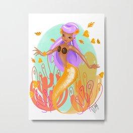 Coconutty Mermaid Metal Print