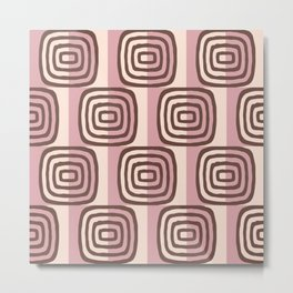 Mid Century Modern Concentric Pattern 232 Metal Print