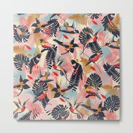 Paradise Birds III. Pattern Metal Print