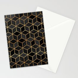 Black Cubes Stationery Cards