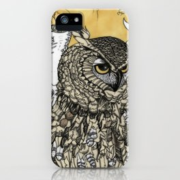African Eagle Owl by MaxillaMellifer, aka Rosemary Knowles iPhone Case