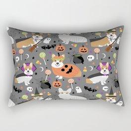 Corgi halloween costume ghost mummy vampire howl-o-ween dog gifts Rectangular Pillow