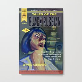 """Tales of the Black Russian"" Book Cover Metal Print"