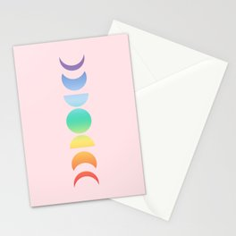 Not a Phase Moon Rainbow Stationery Cards