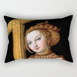 """Lucas Cranach the Elder """"Saint Helena with the Cross"""" Rectangular Pillow"""