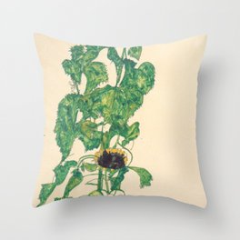 "Egon Schiele ""Sonnenblumen"" Throw Pillow"