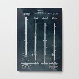 1913 - Billiard Cue Metal Print